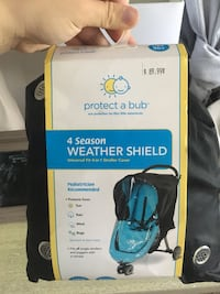 Unused NEW* 4-in-1 weather shield for stroller Edmonton, T5L 4A3