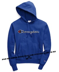 Brand New Champion Chain Stitch Script Hoody in Surf The Web Toronto, M1V 2Z4