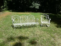 One antique iron sofa with matching BOUNCE chair Chesterfield, 23838