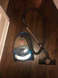 Black and blue canister vacuum cleaner Mississauga, L5M 0M1