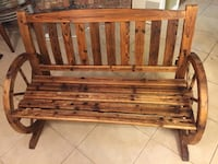Brown wooden bench with black metal frame New Orleans, 70131