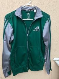 Green and gray Adidas zip-up jacket Tustin, 92780