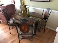 Black metal framed glass top table with chairs Falls Church, 22043