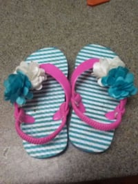 pair of white-and-blue knitted sandals Anderson, 96007