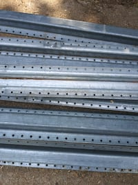 Used 5.5 ft Metal Fence Posts