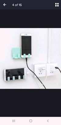 wall mount phone holder for charging