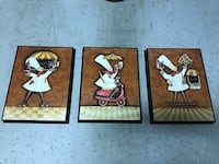 3 white Chef's paintings