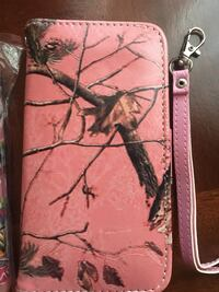 women's pink, brown, and black real tree pattern leather wristlet Abbotsford, V2S 3N7