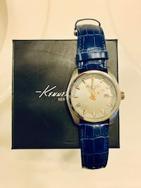 Kenneth Cole Silver Quartz Navy Croco Leather Watch Arlington, 22201