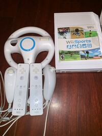 Wii with games and wii fit board