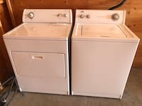 Whirlpool washer and electric dryer work great - 30 day guarantee