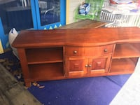 brown wooden TV stand with cabinet Perryopolis, 15473