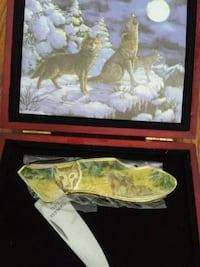 Wolf Wild Life Knife/ cherry box Chillum, 20783