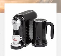 Cagliari coffee machine.  Scratch free dent free machine.  Makes the best coffee.   Built in frother.  Takes Nespresso coffee pucks. Toronto, M4C 2J5