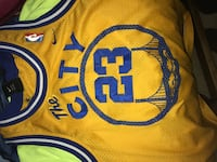 yellow and blue Golden State 23 basketball jersey Germantown, 20876