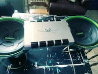 1autotek MM 1400.1D amp and 2 fusion 15 inch speak Fort Myers, 33901