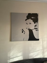 Audrey Hepburn painting with black wooden frame Ashburn