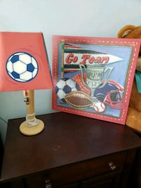 lamp and frame for child's room. Sterling, 20164