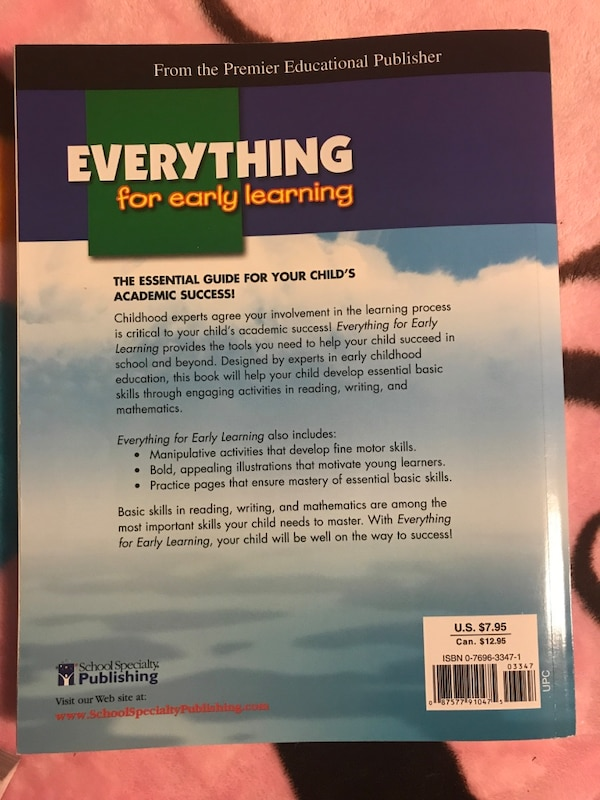 Used Preschool Everything For Early Learning Workbook Never Used