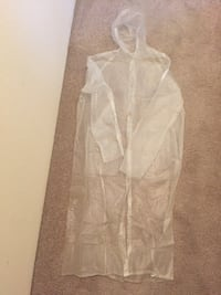 clear plastic raincoat