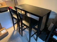 Crate and Barrel Table and Stool Alhambra, 91801