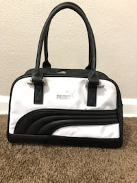 white and black leather tote bag Jacksonville, 32208
