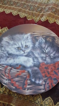 two cats collector's plate.