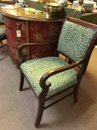 Pair of Accent Chairs with Faux Bois Fabric Prairie Village, 66207