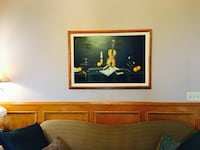 Downsizing my collection: large vintage painting by Farzania offering cheap.cross posted. Calgary, T3A 4R8