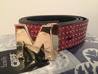 Black and red leather MCM belt Virginia Beach, 23464
