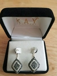 Sterling silver black and diamond earrings Martinsburg, 25405