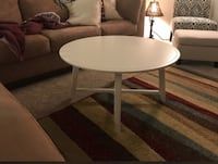 round white wooden coffee table Bristow, 20136