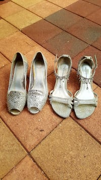 Two pairs of gorgeous silver shoes size 37 Little Bay, 2036