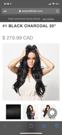 Black 20inch hair clip in extend it remy hair extensions