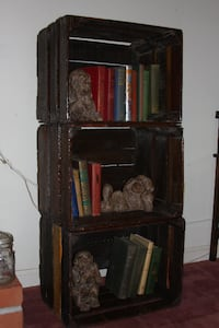 Antique 3 Crate Shelving Locust Grove