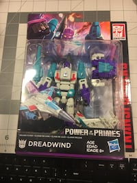 gray, teal, and purple Power Of The Primes Dreadwind action figure