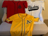 Red, yellow, and white baseball jerseys Redwood City, 94061