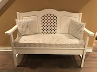 White Bench with Pillows and Storage Vaughan, L4H 2Y9