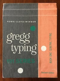 Gregg Typing Vintage Instruction Book