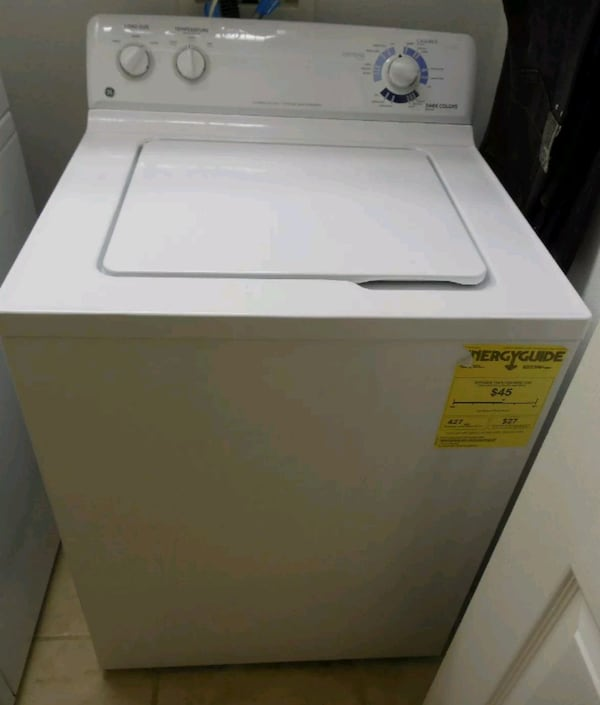 GE Super Capacity Washer  WDSR2080DWW 8