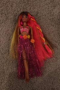 "90s Mattel ""Hula Hair Barbie African American"" collective doll"