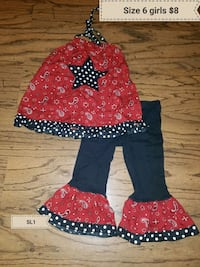 Size 6x girls outfit Erath, 70533