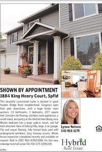Address: 1884 KING HENRY CT, Springfield, OR 97477 3 Beds   |   3 Baths   |   2377 Sq. ft. MLS#: ‪19503006‬ New Description: Gorgeous open floor plan and tile floors in kitchen/dining area with an island. 2.5 baths, 2377 total sq ft. Stainless appliances