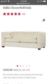 Beautiful sofa (Joss and Main) for sale- excellent condition Washington, 20018