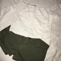 express shorts size 00, forever 21 crop top size L Edcouch, 78538