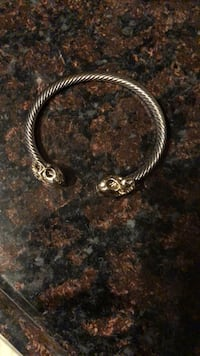 Silver plated gold Head skull bracelet Albany, 12210