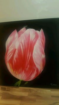 Large Oil Tulip Canvas  Coquitlam, V3J 6N7
