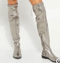 New Womens Mettalic Over The Knee Boots Size L 8-9.5 Hauppauge, 11788