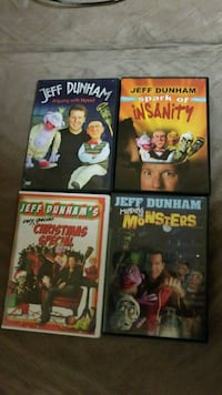 four assorted DVD movie cases
