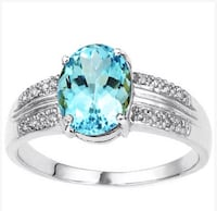 Blue topaz and diamond ring Spring Hill, 34610